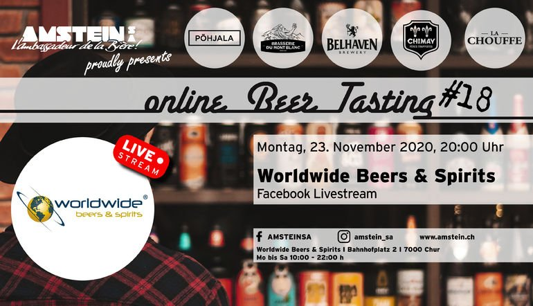 Online Beer Tasting #18 Worldwide Beers & Spirits